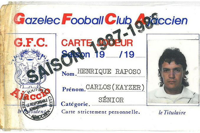 Supuesta ficha de Carlos Henrique Raposo en el Gazélec Ajaccio - Odio Eterno Al Fútbol Moderno