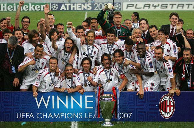 El AC Milan conquistó su última Copa de Europa en 2007 - Odio Eterno Al Fútbol Moderno