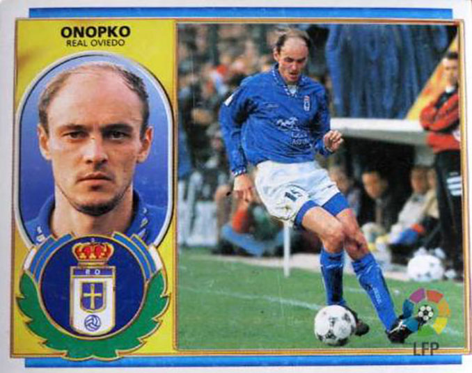 Cromo de Viktor Onopko - Odio Eterno Al Fútbol Moderno