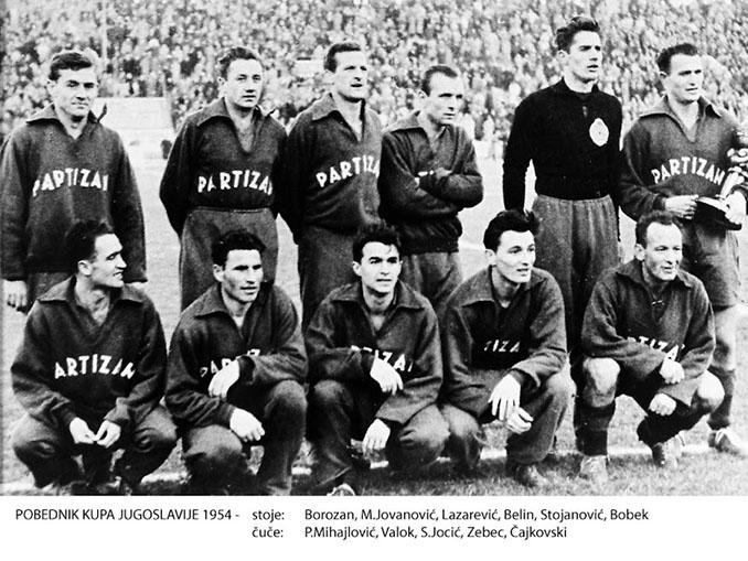 Partizan de Belgrado campeón de la Copa de Yugoslavia en 1954 - Odio Eterno Al Fútbol Moderno