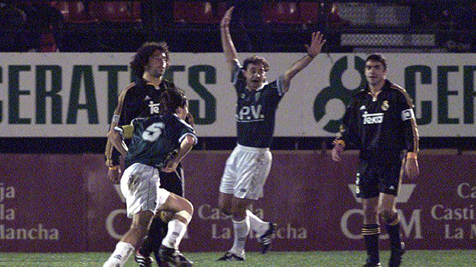 El 13 de diciembre de 2000 el Toledo eliminó al Real Madrid de la Copa del Rey - Odio Eterno Al Fútbol Moderno