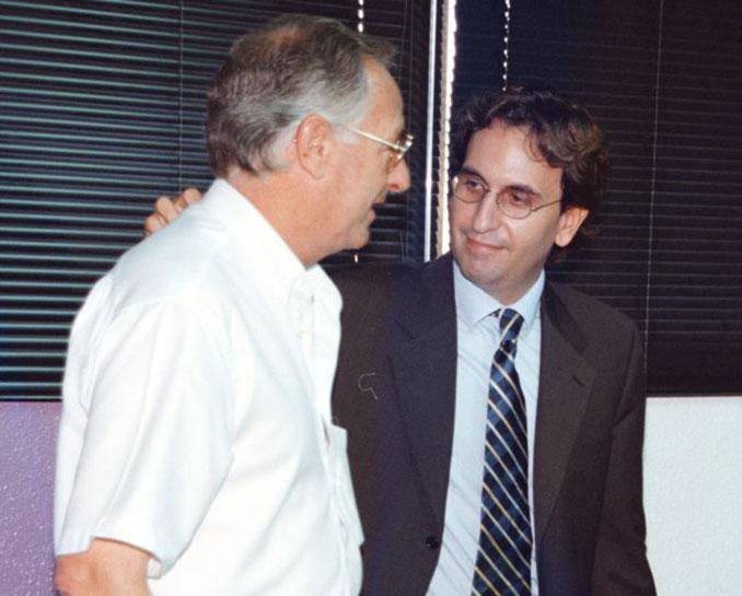 Marcos Antonio Fernandez, vicepresidente del Real Valladolid, con Vicente Cantatore - Odio Eterno Al Fútbol Moderno