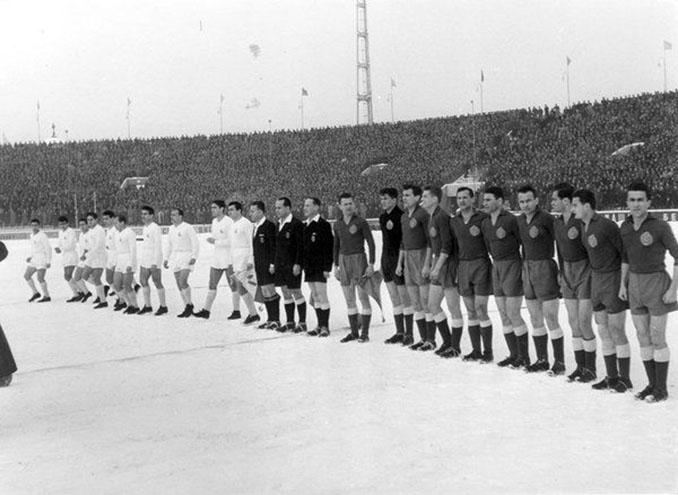 Partizan vs Real Madrid disputado en la primera edición de la Copa de Europa - Odio Eterno Al Fútbol Moderno
