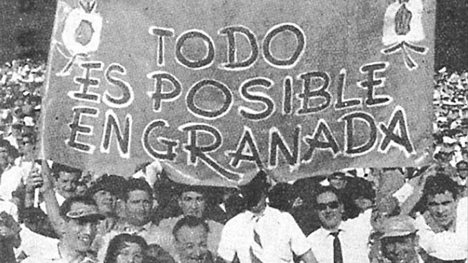 Aficionados del Granada CF en la final de Copa de 1959 - Odio Eterno Al Fútbol Moderno