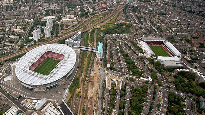 Distancia entre el Emirates Stadium y Highbury - Odio Eterno Al Fútbol Moderno