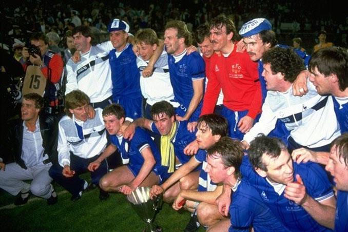 Everton campeón de la Recopa de Europa en 1985 - Odio Eterno Al Fútbol Moderno