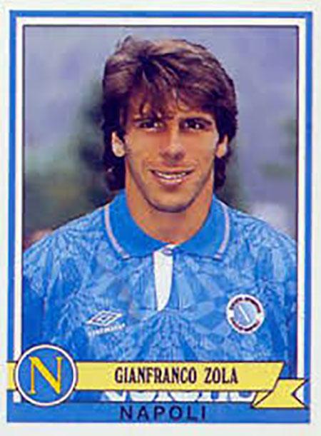 Cromo de Gianfranco Zola - Odio Eterno Al Fútbol Moderno