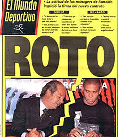 "Portada de Mundo Deportivo sobre el ""Caso Ronaldo"" - Odio Eterno Al Fútbol Moderno"