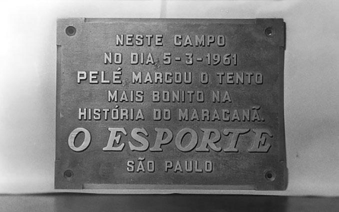 """El """"gol de placa"""" de Pelé inmortalizado en el Estadio de Maracaná - Odio Eterno Al Fútbol Moderno"""