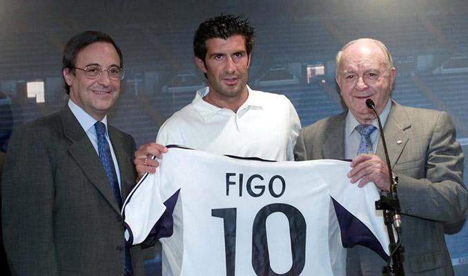 Florentino y Di Stéfano en la presentación de Luis Figo - Odio Eterno Al Fútbol Moderno