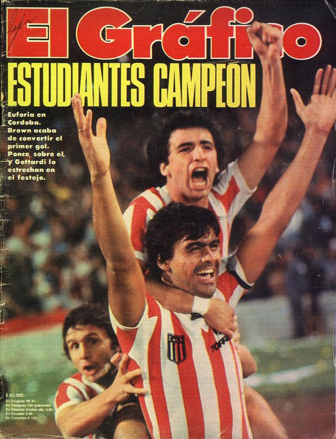 """Portada de """"El Gráfico"""" con Estudiantes de La Plata campeón del Torneo Metropolitano de 1982 - Odio Eterno Al Fútbol Moderno"""