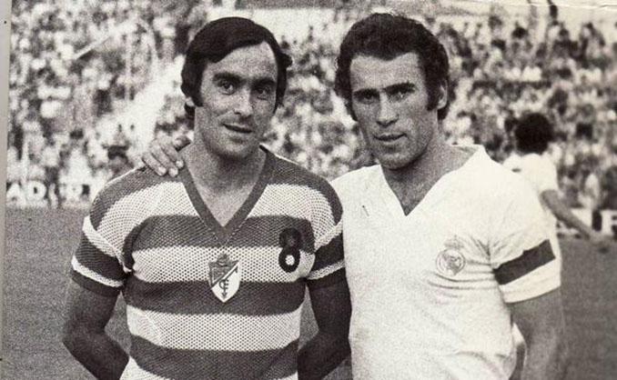 Félix Lorenzo y Amancio antes de un Granada CF vs Real Madrid - Odio Eterno Al Fútbol Moderno