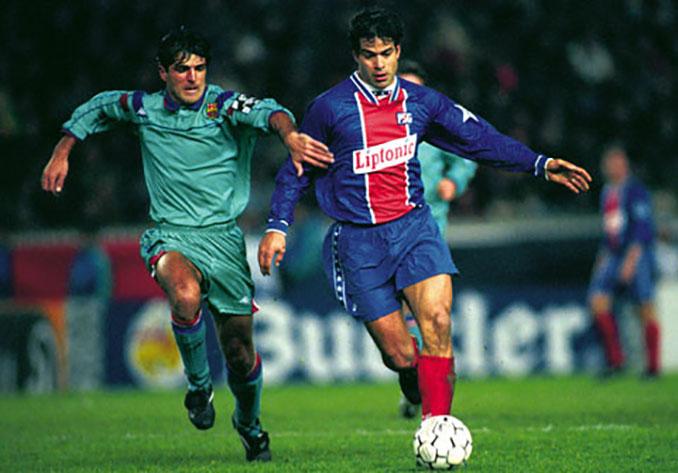 Raí y Nadal en el PSG vs Barcelona de 1995 - Odio Eterno Al Fútbol Moderno