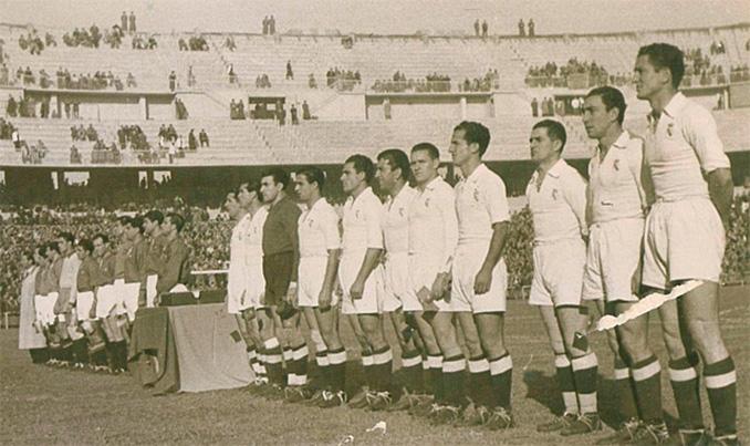 El Real Madrid lució medias negras hasta mediados de la década de 1950 - Odio Eterno Al Fútbol Moderno