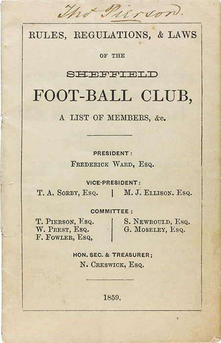Manuscrito con las Sheffield Rules - Odio Eterno Al Fútbol Moderno