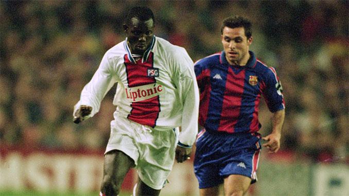 Weah y Sergi en la eliminatoria PSG vs Barcelona de 1995 - Odio Eterno Al Fútbol Moderno