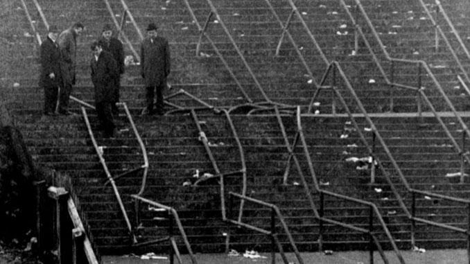 Escalera 13 tras el desastre de Ibrox Park en 1971 - Odio Eterno Al Fútbol Moderno