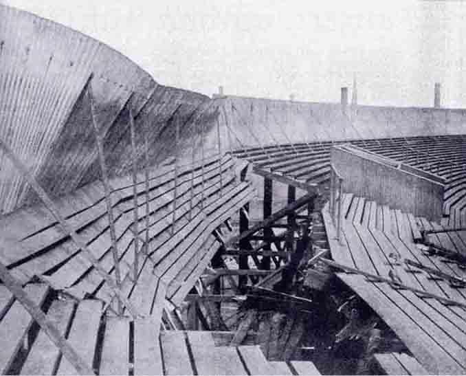 Tribuna de Ibrox Park tras el desastre de 1902 - Odio Eterno Al Fútbol Moderno