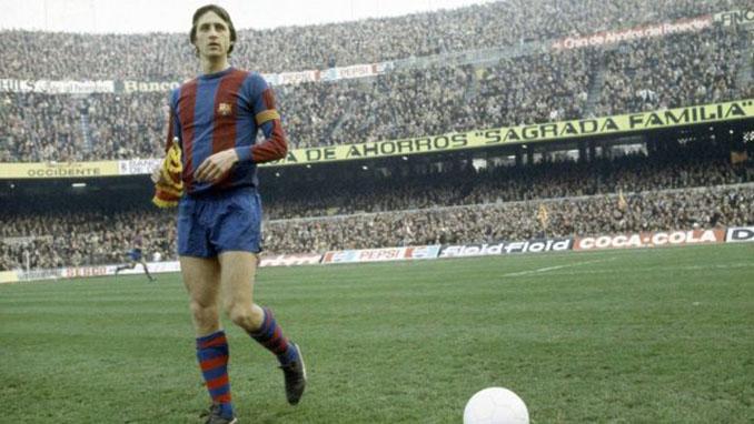 Cruyff durante su etapa como futbolista del FC Barcelona - Odio Eterno Al Fútbol Moderno