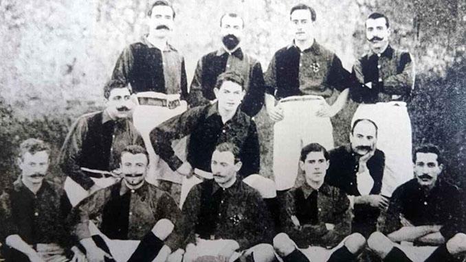 Plantilla del FC Barcelona en el primer Clásico de la historia - Odio Eterno Al Fútbol Moderno