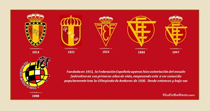 Escudos de la Federación Española de Fútbol desde su fundación en 1913 - Odio Eterno Al Fútbol Moderno