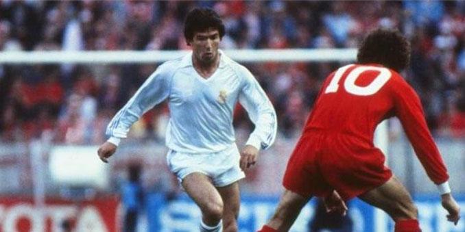 """""""Juanito"""" en la final de la Copa de Europa de 1981 entre Liverpool y Real Madrid - Odio Eterno Al Fútbol Moderno"""