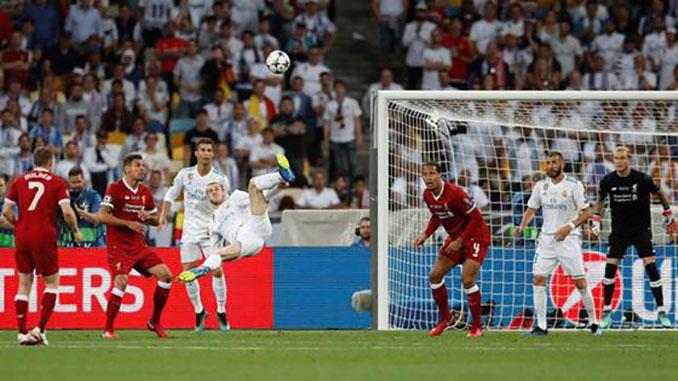 Gol de Bale en la final de la Copa de Europa de 2018 entre Liverpool y Real Madrid - Odio Eterno Al Fútbol Moderno