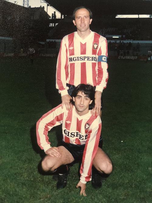 Lotina y Raúl Ruiz en la temporada 86-87 en la que consiguieron el ascenso a Primera División - Odio Eterno Al Fútbol Moderno