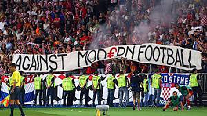 Pancarta Against Modern Football - Odio Eterno Al Fútbol Moderno
