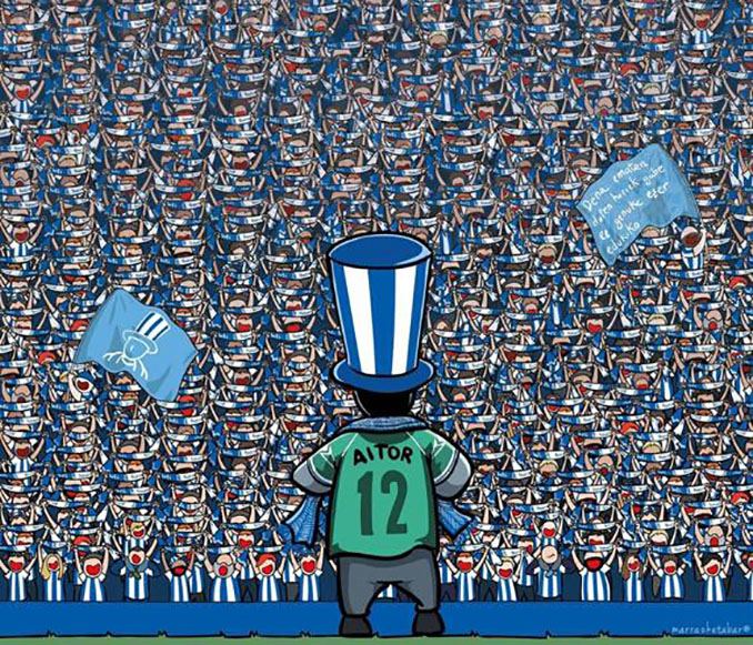 Homenaje a Aitor Zabaleta del artista Marrazketabar - Odio Eterno Al Fútbol Moderno