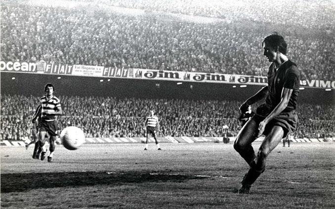 Cruyff marcó dos goles el día de su debut con el FC Barcelona - Odio Eterno Al Fútbol Moderno