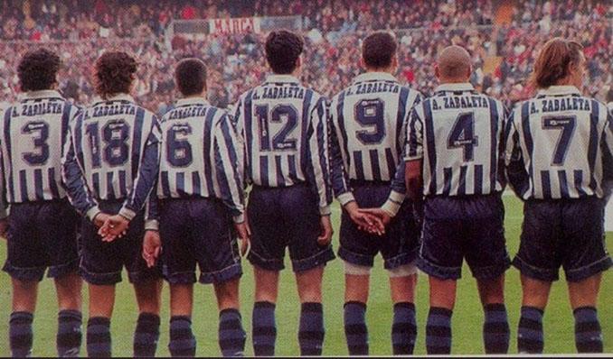 Homenaje de los futbolistas de la Real Sociedad a Aitor Zabaleta - Odio Eterno Al Fútbol Moderno