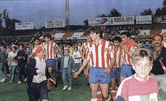 Raúl Ruiz con el Girona en el play off de ascenso de 1992 - Odio Eterno Al Fútbol Moderno
