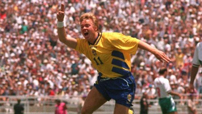 Brolin celebrando un gol en el Mundial de 1994 - Odio Eterno Al Fútbol Moderno