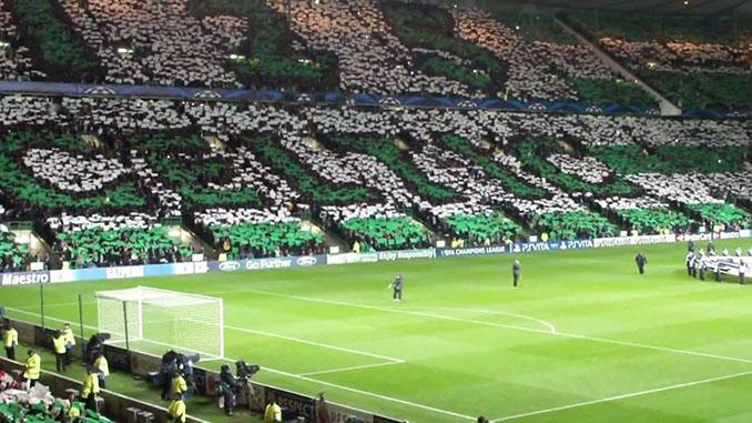 Celtic Park el día del 125 aniversario del Celtic de Glasgow - Odio Eterno Al Fútbol Moderno