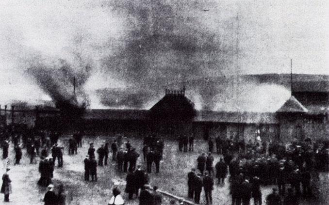 Hampden Park durante los disturbios en la final de la Scottish Cup de 1909 - Odio Eterno Al Fútbol Moderno