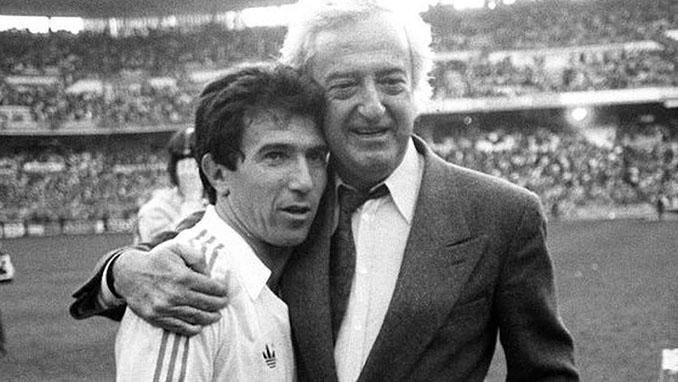 Juanito y Ramón Mendoza en el Santiago Bernabéu - Odio Eterno Al Fútbol Moderno