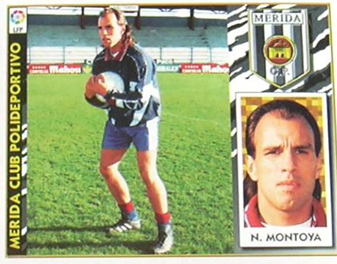 """Cromo de """"El Mono"""" Montoya - Odio Eterno Al Fútbol Moderno"""