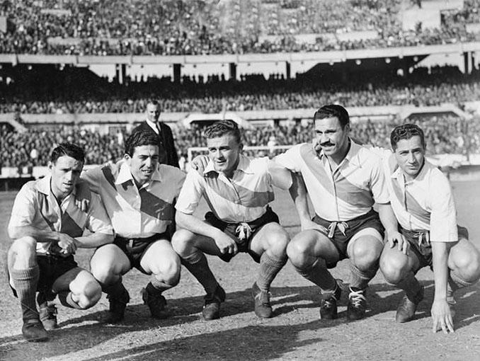 """Legendaria delantera de """"La Máquina"""" de River Plate en 1947 - Odio Eterno Al Fútbol Moderno"""