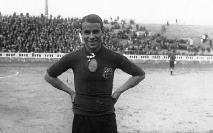 José Samitier con la camiseta del FC Barcelona - Odio Eterno Al Fútbol Moderno