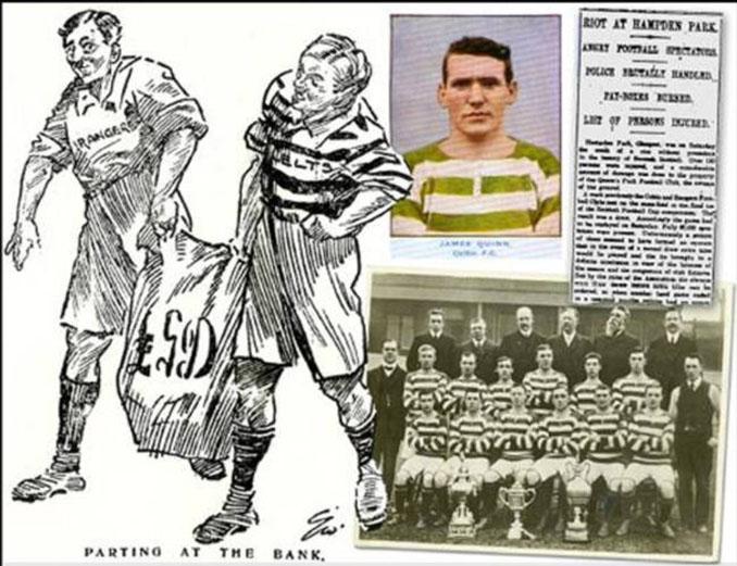 The Scottish Referee tras el Old Firm del 10 de abril de 1909 - Odio Eterno Al Fútbol Moderno