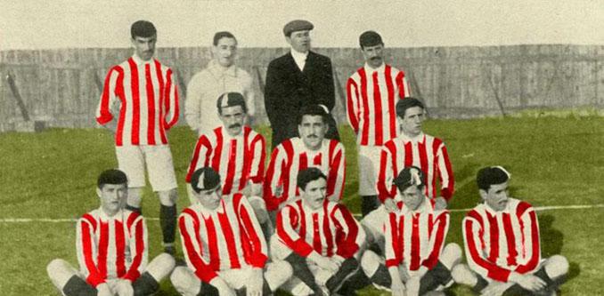 La camiseta del Athletic Club empezó a ser rojiblanca en 1910 - Odio Eterno Al Fútbol Moderno