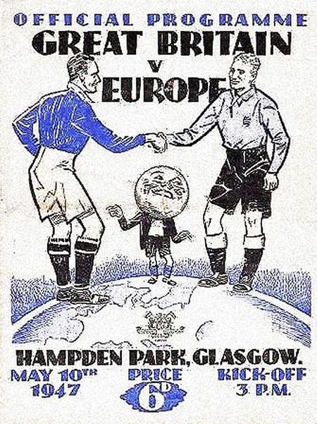 Cartel del partido Reino Unido vs Resto de Europa - Odio Eterno Al Fútbol Moderno