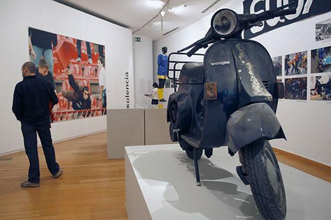 Un museo alberga la moto que rodó por la grada de San Siro - Odio Eterno Al Fútbol Moderno
