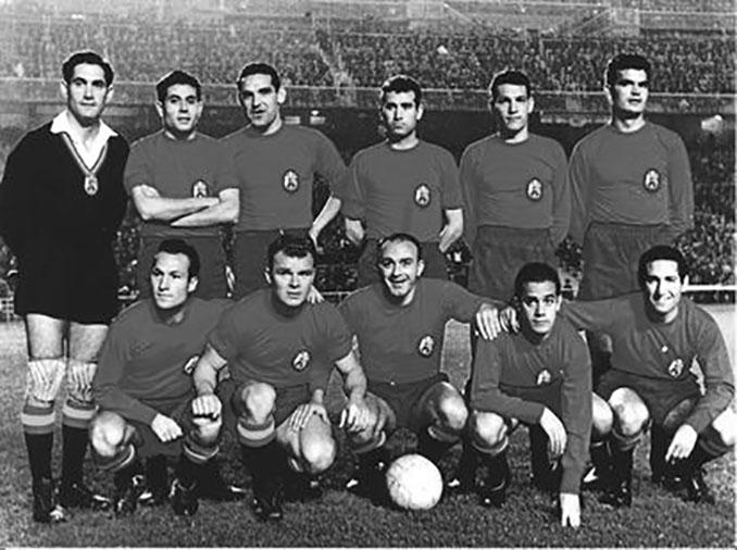 Once inicial de España en el partido ante Polonia de la Eurocopa 1960 - Odio Eterno Al Fútbol Moderno