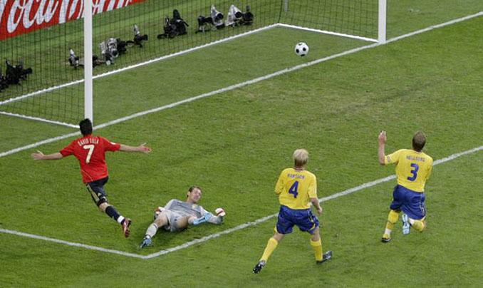 El gol de Villa a Suecia clasificó a España para cuartos de final en la Eurocopa de 2008 - Odio Eterno Al Fútbol Moderno