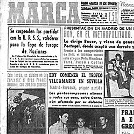 Marca anunciando la suspensión de la eliminatoria URSS vs España de la Eurocopa de 1960 - Odio Eterno Al Fútbol Moderno