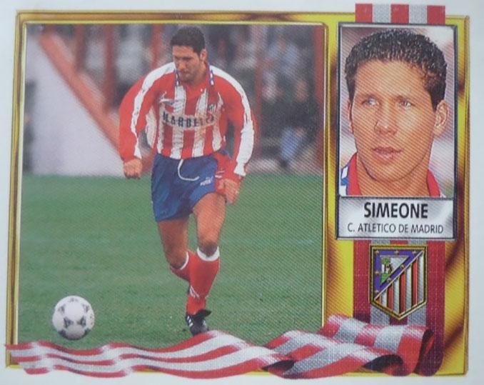 "Cromo de ""Cholo"" Simeone - Odio Eterno Al Fútbol Moderno"