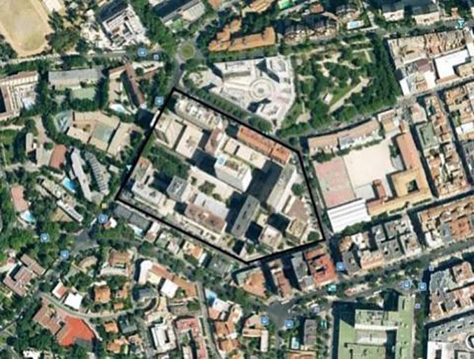Las calles forman la silueta del escudo del Atlético de Madrid donde se ubicó el Stadium Metropolitano - Odio Eterno Al Fútbol Moderno