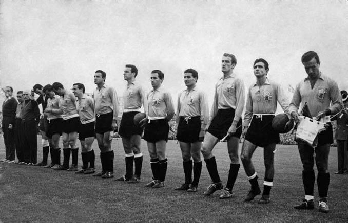 Argentina lució camiseta amarilla en su debut frente a Alemania en el Mundial de 1958 - Odio Eterno Al Fútbol Moderno